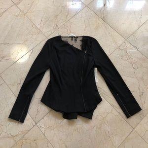 NWT robbi & nikki lace back peplum waist blazer